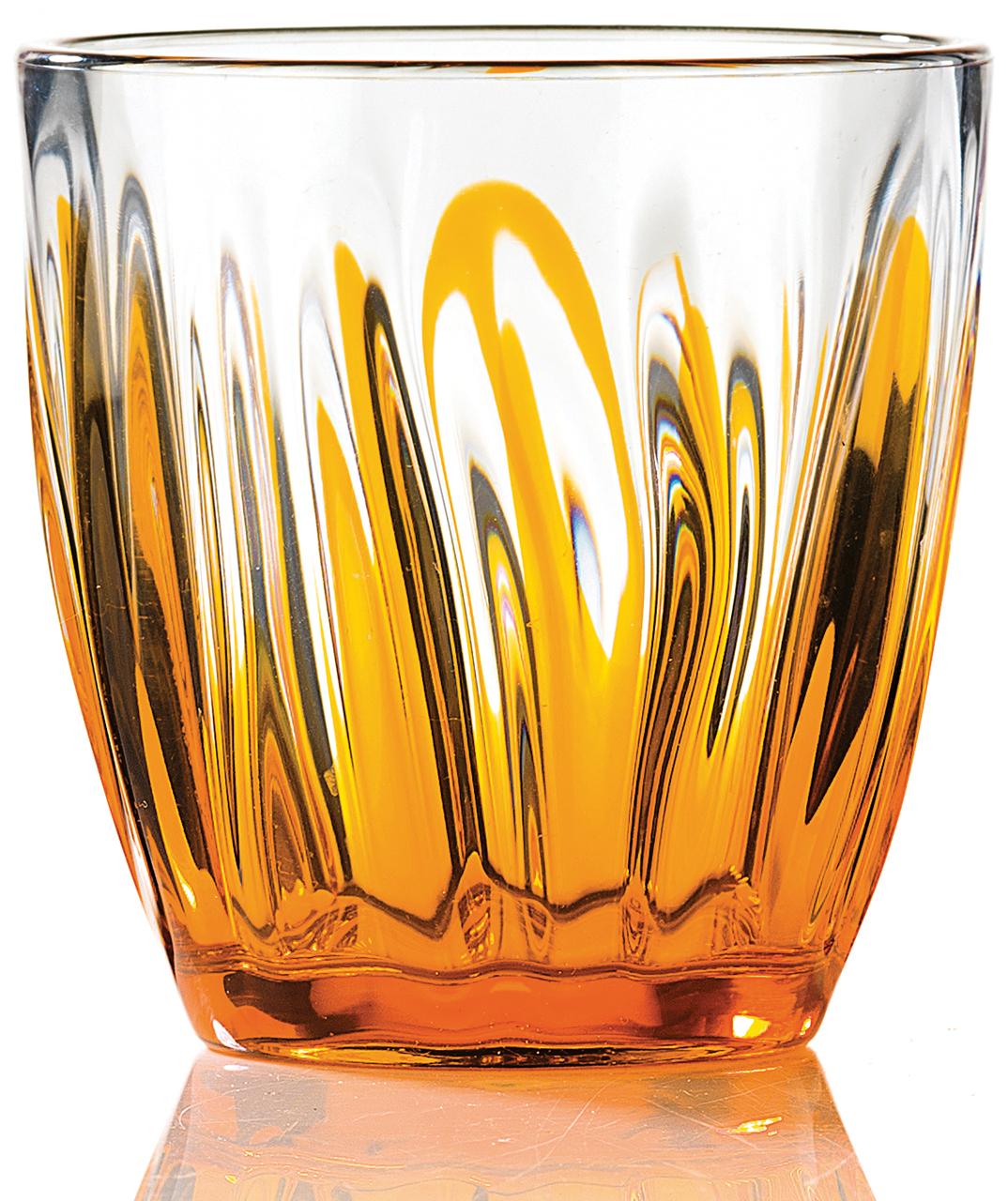 Guzzini bicchiere acqua iris arancio guzzini tavola - Disposizione bicchieri in tavola ...