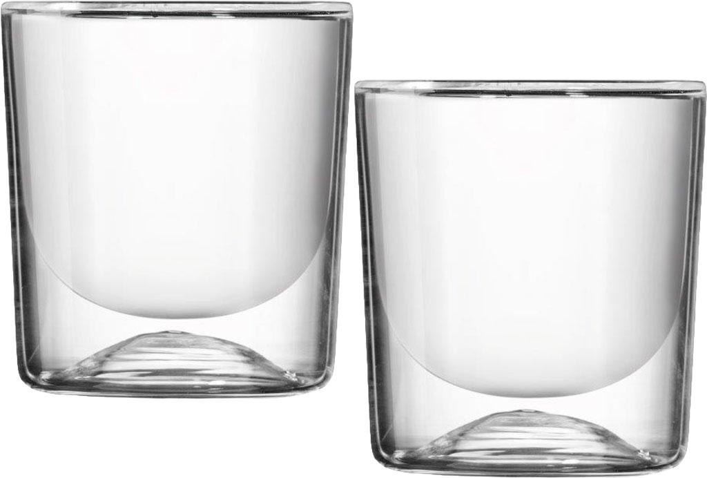 Guzzini set 2 bicchieri termici doppia parete bicchieri for Bicchieri termici