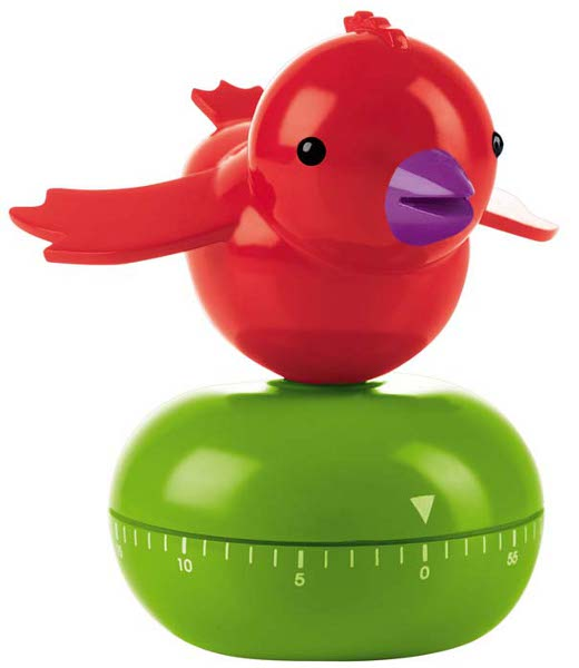 Cuckoo timer rosso e my guzzini for Timer alessi prezzo