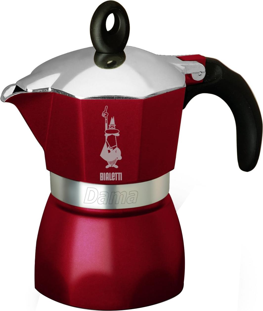 BIALETTI DAMA GLAMOUR CAFFETTIERA 3 TZ ROSSA