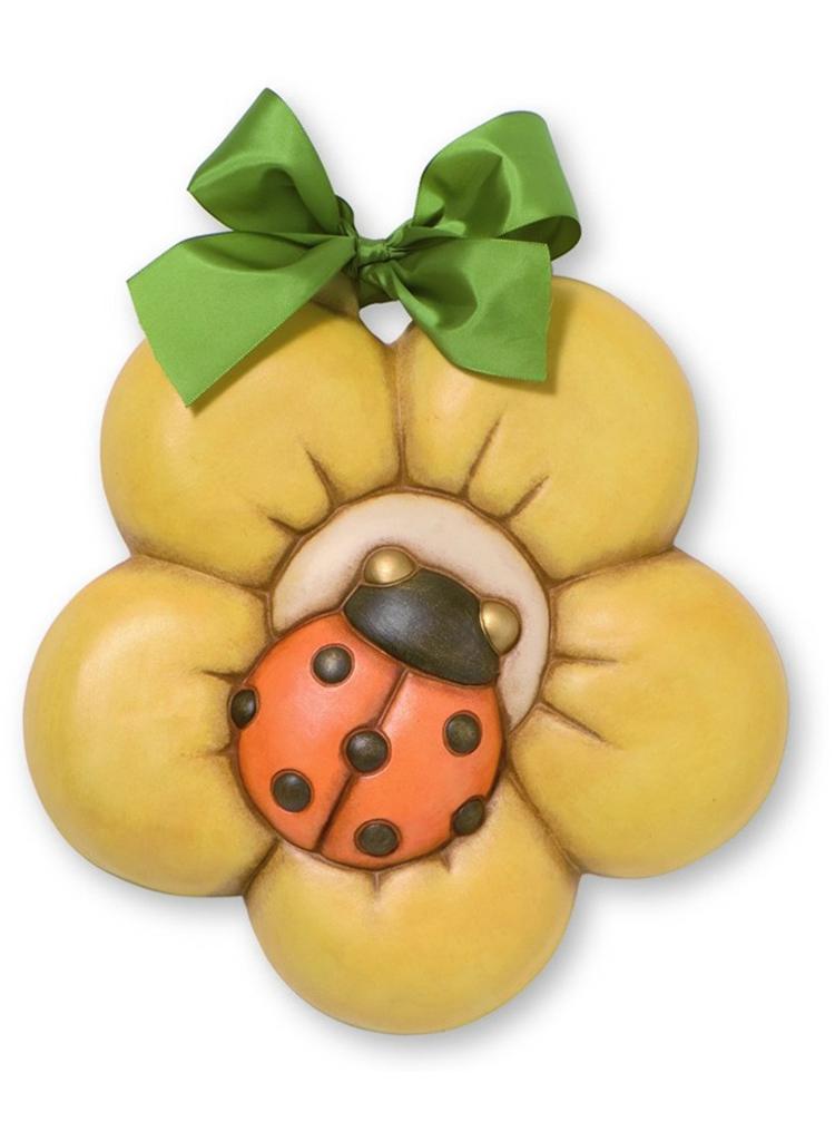 formella coccinella con girasole