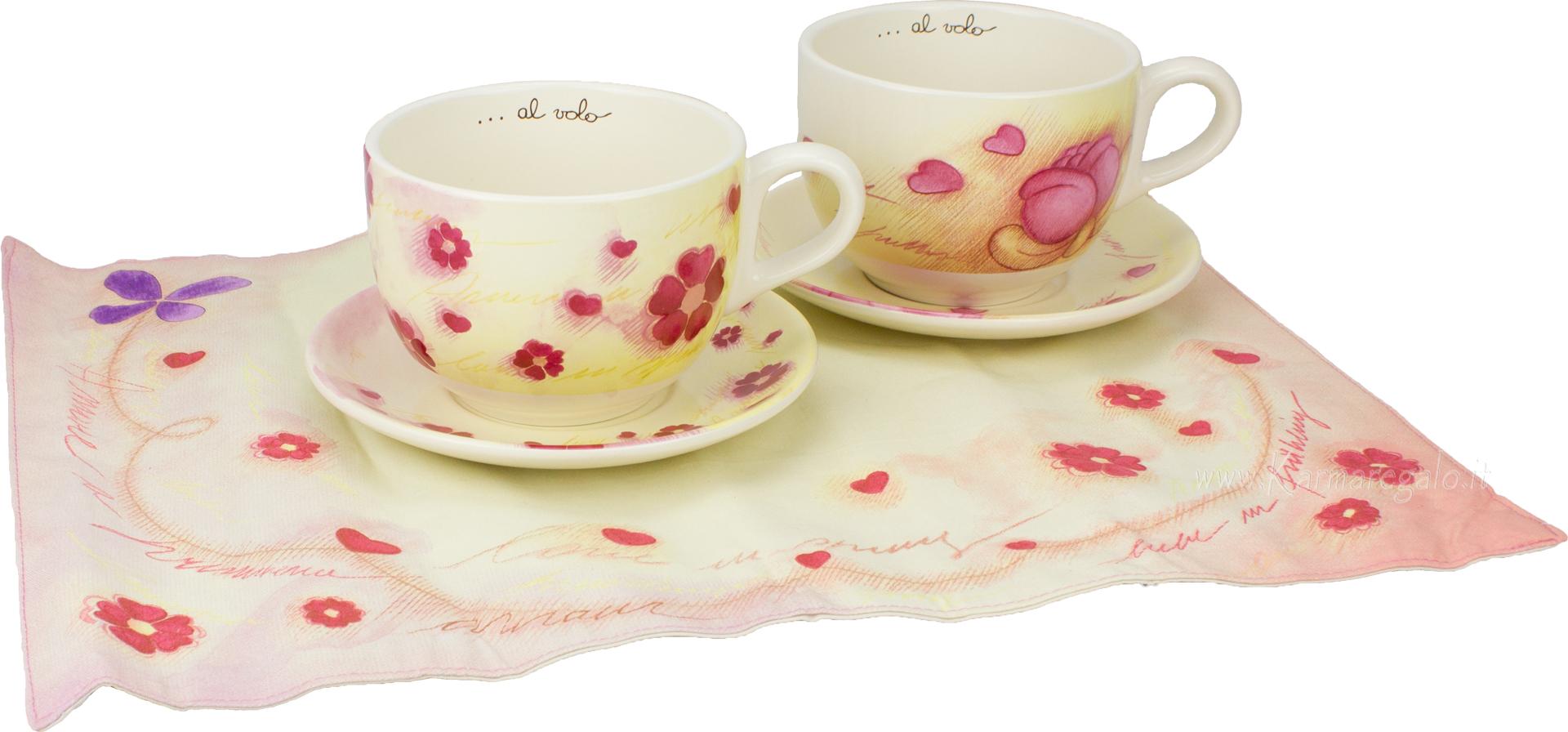 Set 2 tazze colazione con 2 tovagliette americane amore a primavera - Portafoto thun prezzi ...