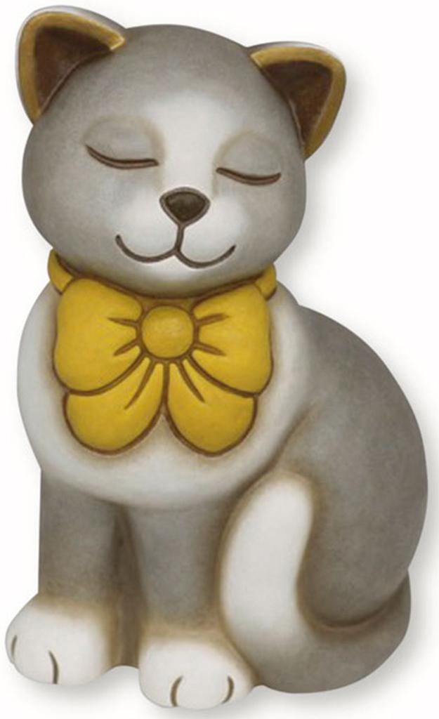 gatto con fiocco giallo thun