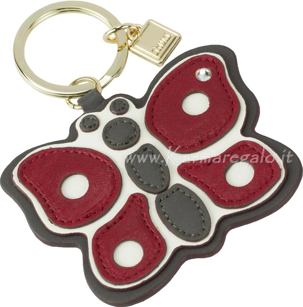 Portachiavi ad anello chic farfalla rosso - Thun idee regalo ...