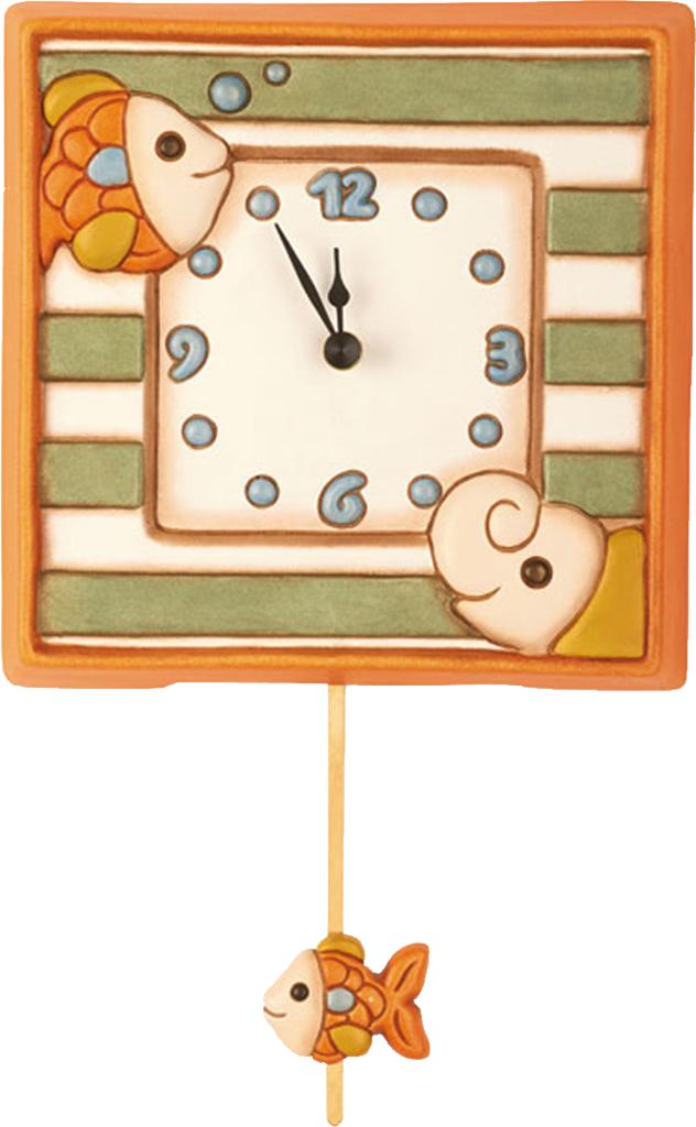 Orologio a pendolo elefante e pesciolino for Costo orologio da parete thun