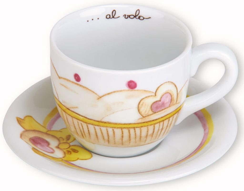 Tazza colazione cupcake cuore e fiocco thun - Tazza da bagno ...
