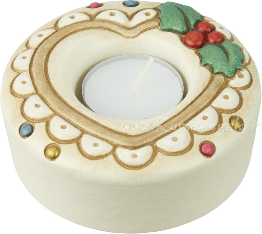 Porta tea light avorio con cuore thun - Porta tea light ...
