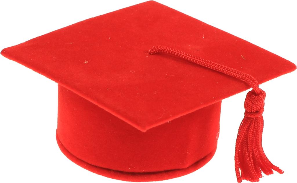 Karmaregalo Cappello Laurea Portaconfetti Rosso
