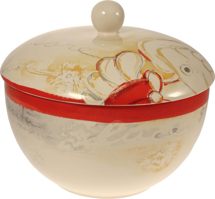 Biscottiera natale desideri thun for Ceramica thun saldi