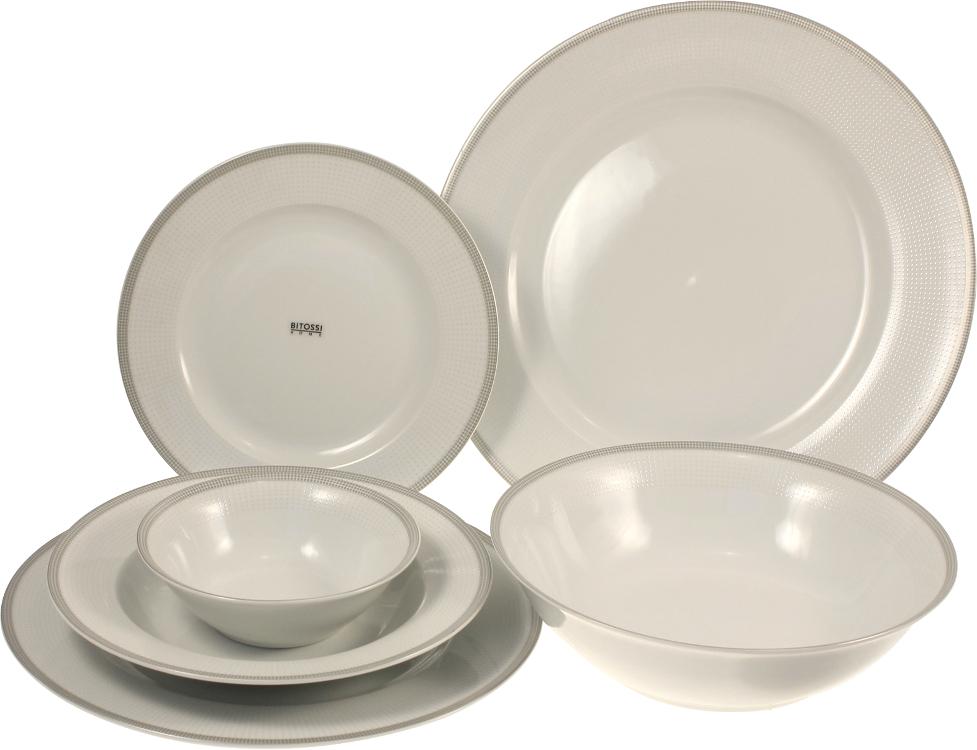 servizio piatti 26 pezzi silver bitossi