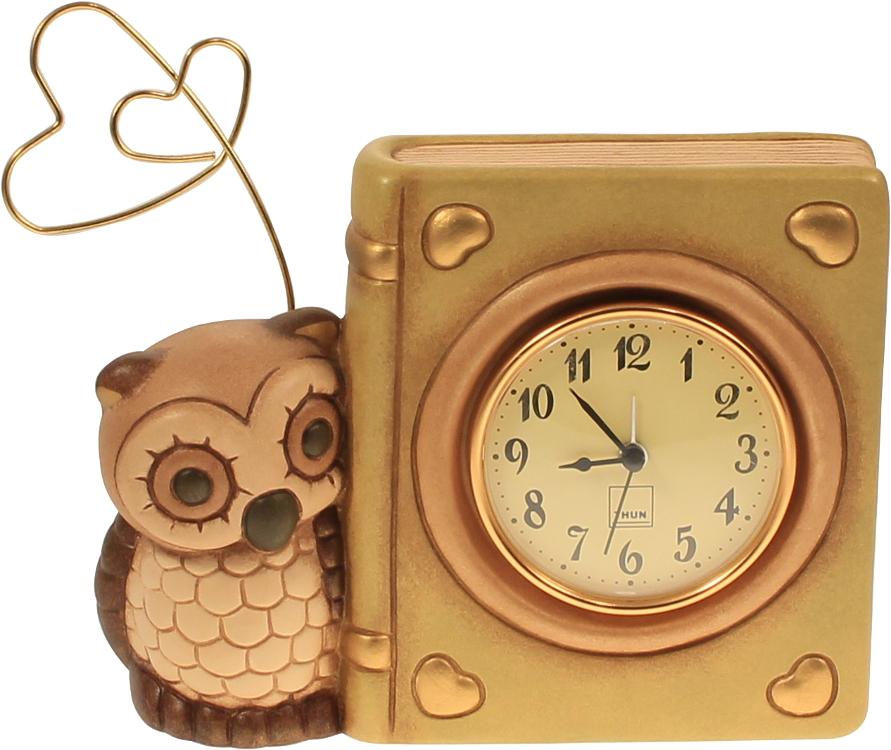 Orologio libro con gufo portafoto e sveglia thun for Sveglia thun elegance