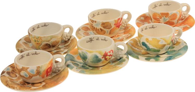 Confezione 6 tazzine safari thun for Ceramica thun saldi