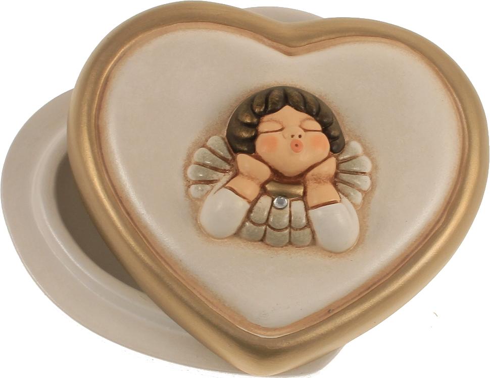 Scatolina portaconfetti cuore testa angelo thun for Ceramica thun saldi
