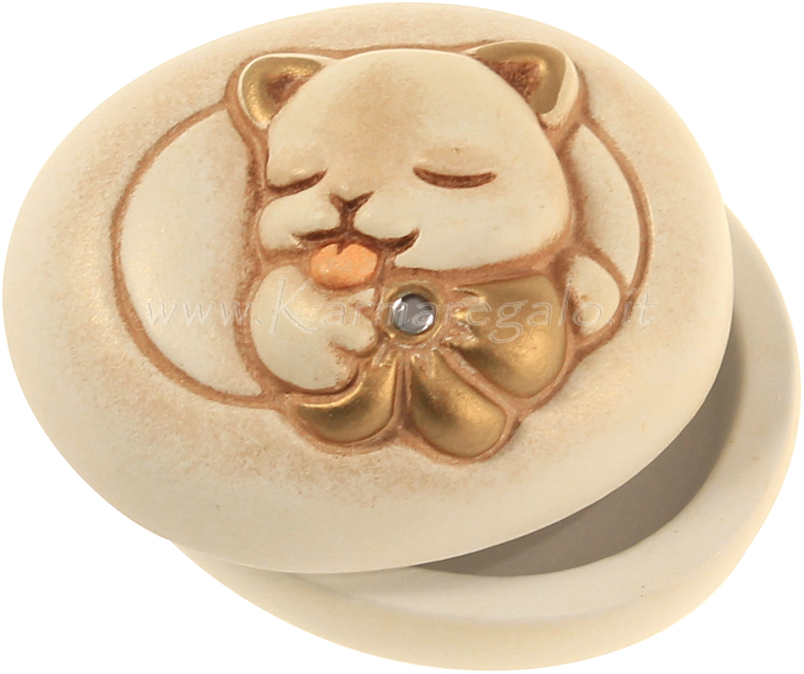 Scatolina piccola ovale con gatto thun for Gatto thun