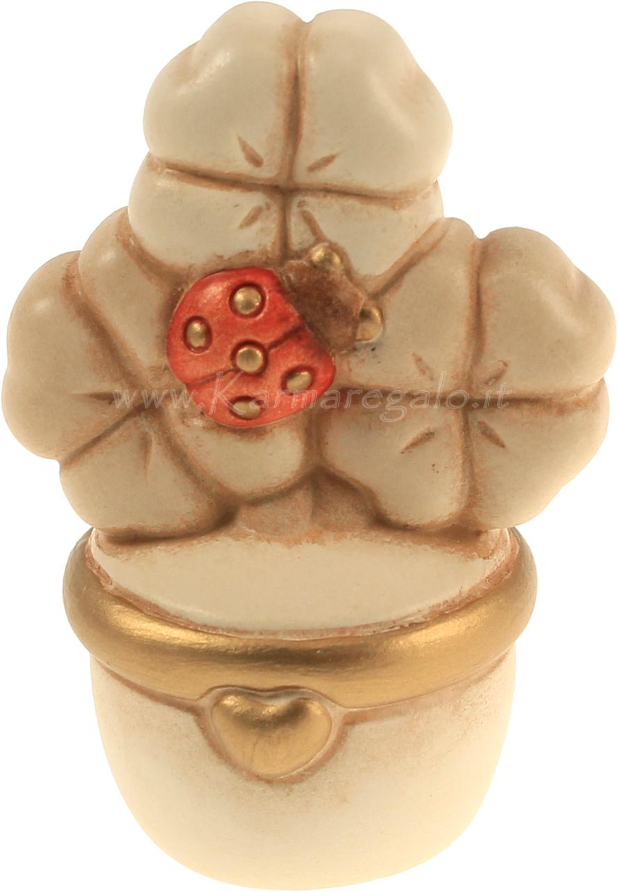 Vasetto quadrifoglio con coccinella thun - Idee regalo thun ...