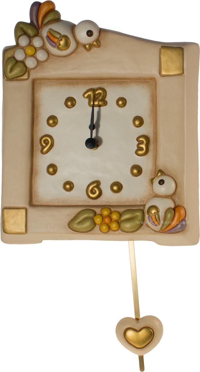 Thun baby orologio a pendolo elefante e pesciolino for Orologio pendolo thun