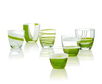 Set 6 bicchieri acqua table art verdi for Guzzini casa catalogo