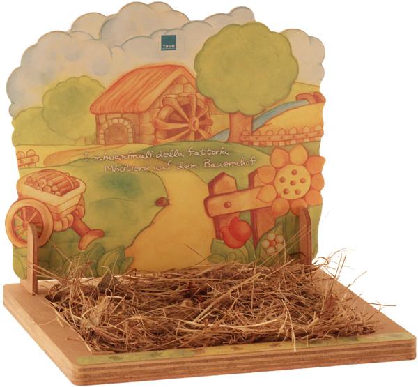 Espositore mini animali della fattoria thun for Piani di fattoria con stanza bonus