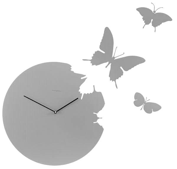 Butterfly Orologlio Alluminio Satinato [ - ]