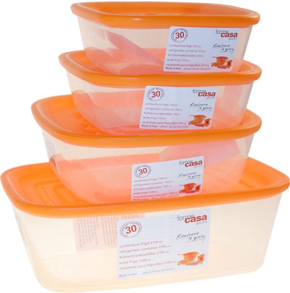 Set contenitori ermetici arancio forme casa guzzini for Guzzini casa catalogo