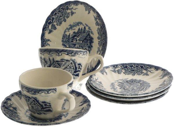 6 tazzine caffe in ceramica inglese churchill