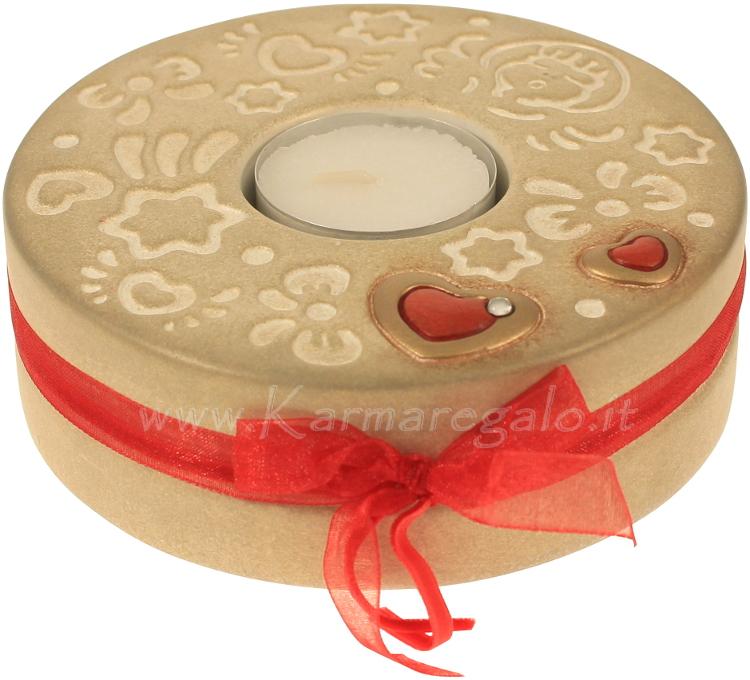 Porta tea light con cuore thun - Porta tea light ...