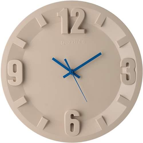 guzzini Orologio Da Parete 3-6-9-12 Argilla e lancette blu   Complementi