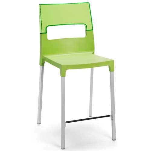 Diva sgabello h65 verde verde trasparente scab for Sgabello verde