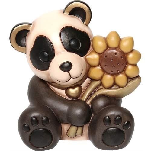 Panda con girasole thun for Ceramica thun saldi