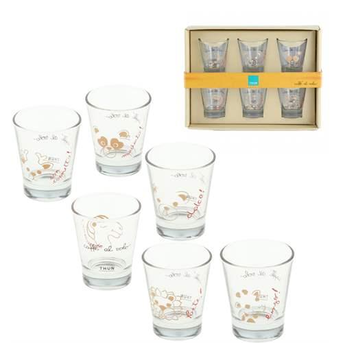 Set 6 bicchierini da caffe in vetro for Bicchieri caffe