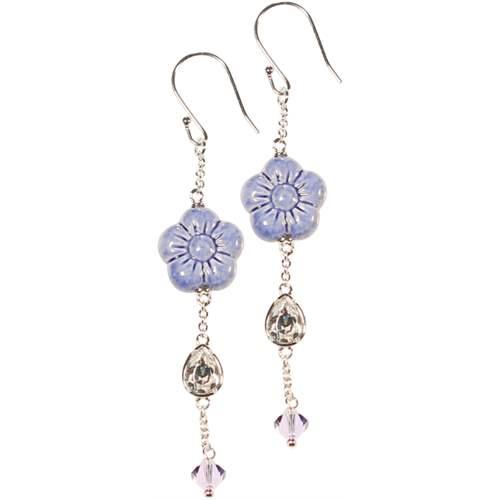 Thun orecchini longuette fiore blu idee regalo - Thun idee regalo ...