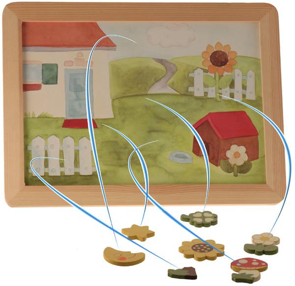 Lavagnetta con magneti in legno thun for Lavagna thun prezzo